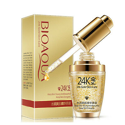 BIOAQUA 24K Gold Skin Care Essence Collagen Anti Aging Nutritious Moisturizing