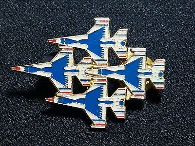 Air Force Thunderbirds USA Military Diamond Formation Airplane Tie Lapel Pin14N