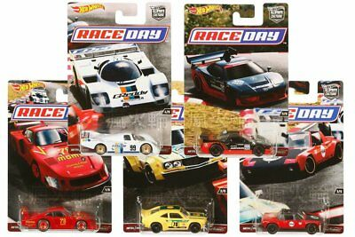 5 x Hot Wheels 2017 CAR CULTURE RACE DAY SERIES Full set 100% Brand New