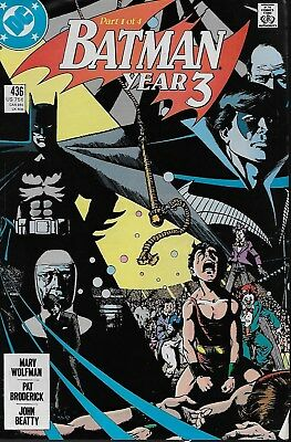 Batman No.436-439 / 1989 Batman Year 3 Part 1-4 / Marv Wolfman & Pat Broderick