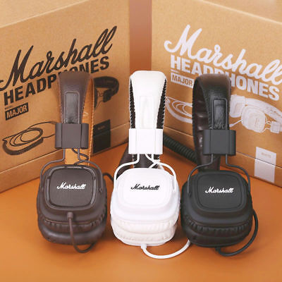 New Headphones Marshall Major Mic Remote HIFI Noise Cancelling Deep Bass