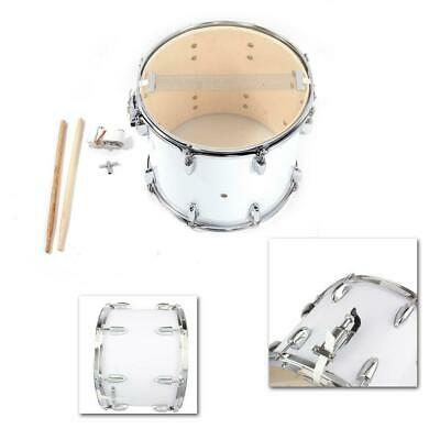 New Marching Snare Drum Drumstick Percussion Silver W/ Drumsticks