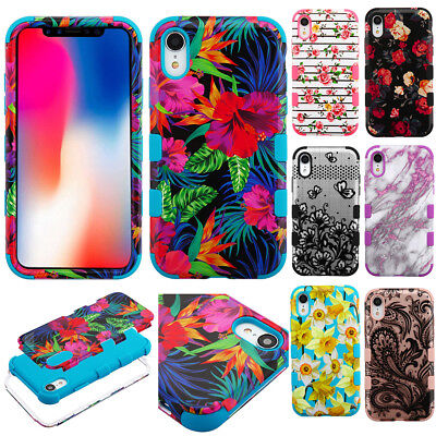 """For Apple Iphone Xr 6.1"""" Tuff Armor Dual Layer Case Shock Rubber Cover+Stylus"""
