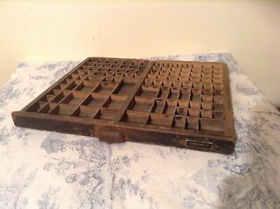 Vintage French Wooden Printers Tray Letterpress (1371b)