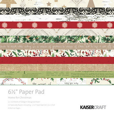 "*A&B* KAISERCRAFT Paper Pads 6.5"" - Home For Christmas - PP980"