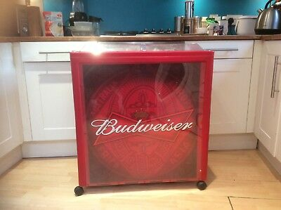BUDWEISER COOLER/ICE-BOX/ LARGE! ONLY £39 99p! FOR A QUICK SALE! COLLECTION  ONLY