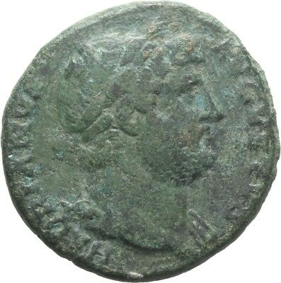 LANZ Rom As Hadrianus Kaiser Salus Patera Schlange Altar COS III $SYB54
