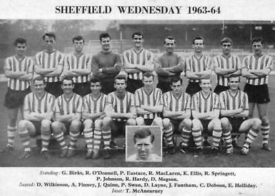 Sheffield Wednesday Football Team Photo>1963-64 Season