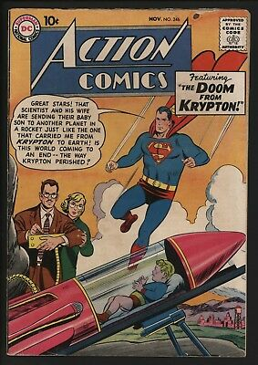 Action Comics #246 Great Curt Swan Cover! Nov 1958 Nice Page Quality