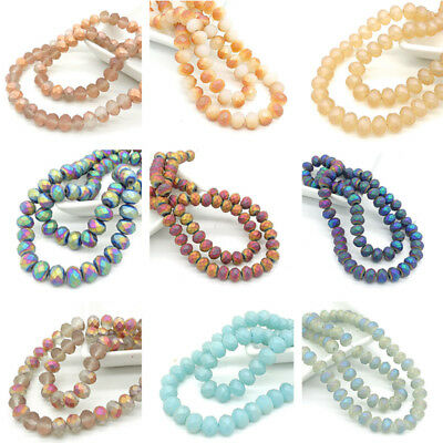 New hot Rondelle Faceted Crystal Glass Loose Beads Jewelry Making 10mm8mm6mm4mm