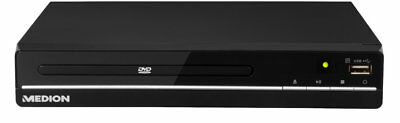 MEDION LIFE E71021 MD 80036 DVD Player USB HDMI Xvid MPEG4 MP3 JPEG schwarz