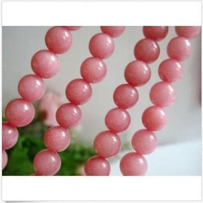 4MM Natural Pink Morganite Ruby Round Jade Stone Loose Beads 15''