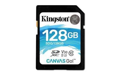 Kingston Canvas Go! 128GB SD Memory Card Class 10 UHS-I U3 128 GB capacity