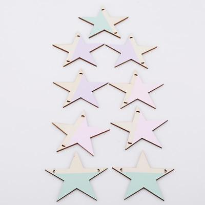 Wooden Star Beads With Hole Hanging Room Door Wall Decoration Q