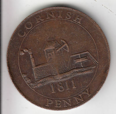 Gb Cornish Penny Token 1811 (1947)         15Z       By Coinmountain