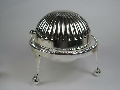 RETRO ROYAL WARWICK Silver Plated Butter Dish with Sliding Lid BOXED 1980s