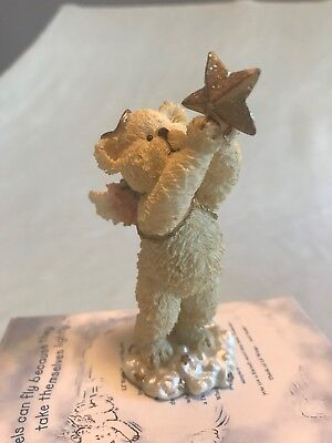 "BOYDS BEARS resin Lil Wings #24155 ""Twink"" angel bear collection"