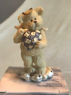 """BOYDS BEARS resin Lil Wings #24154 """"Luvey"""" angel bear collection"""