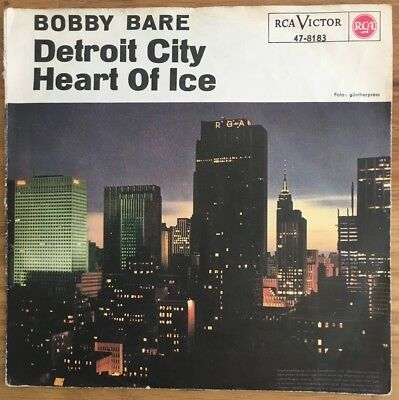 Bobby Bare - Detroit City / Heart of Ice  auf original deutscher RCA