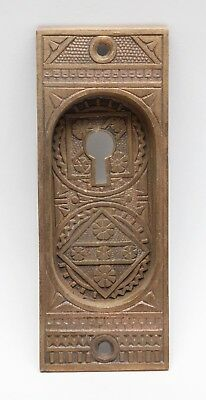 Bronze Ornate Pocket Door Plate