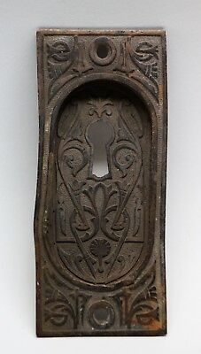 Antique Bronze Ornate Pocket Door Plate