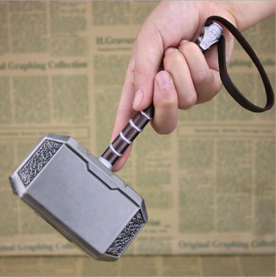 The Avengers Thor Weapon 7.9'' Gold Silver Alloy Hammer Children Cosplay Props
