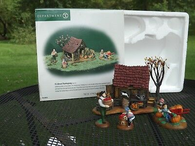 """Department 56 New England Village """"It's Almost Thanksgiving"""" #56639"""