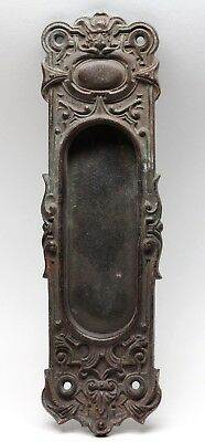Antique Cast Bronze Figural Pocket Plate