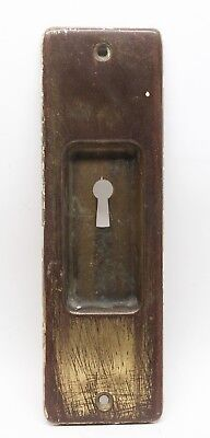 Vintage Brass Yale Pocket Door Plate