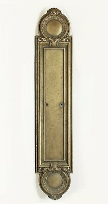 Antique Victorian Bronze Push Plate