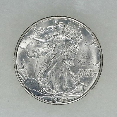 1942 D Liberty Walking Half Dollar 50C Ch Bu Choice Brilliant Uncirc (5919)