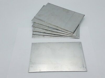 7 PC 7-1/16 x 4-7/16 x 1/8 Aluminum Sheet Plate Scrap Metal Stock Bar Flat Shim