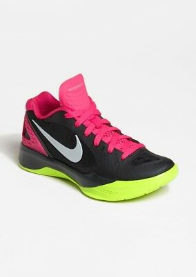 New Nike Volley Zoom Hyperspike Women Size 12.5 Volleyball Shoe Black/Pink/Volt
