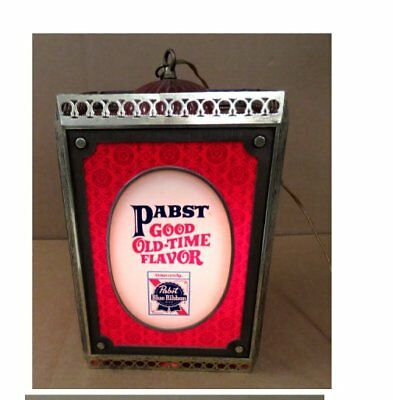 Vintage Pabst Blue Ribbon Beer Rotating Hanging Light No Reserve