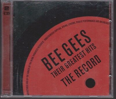 BEE GEES Their Greatest Hits The Record [HDCD] 2 CD Set Anthology 60s 70s Disco