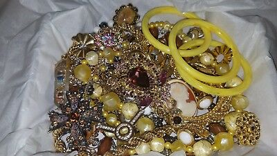 Large Lot of Fashion Vintage Costume Untested Estate Jewelry #453