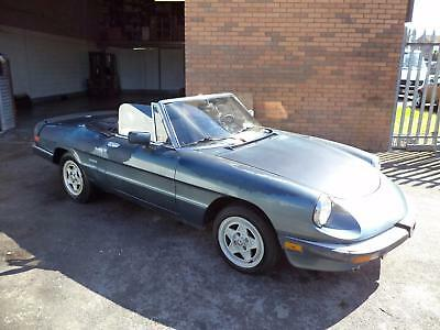 Alfa Romeo 2.0 Injection Spider(1987) Met Blue! Lhd Us Import! Restoration Proj!