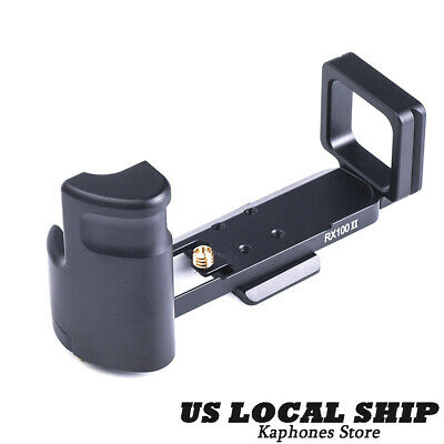 US SHIP Metal Release L Plate Bracket Holder Hand Grip For SONY RX100II Camera