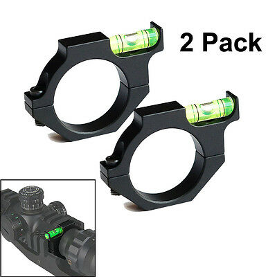 2Pack 30mm Rifle Scope Bubble Level Mount Rings Anti Cant Fits 30mm Scope Tube