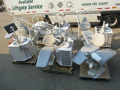 Lot of 8 SDS Dental Patient Exam Chairs & 6 Ortho Delivery Cart Ssytems
