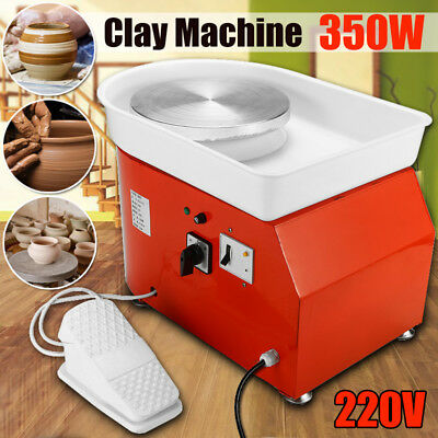 25CM 350W Electric Pottery Wheel Ceramic Machine Foot Pedal Work Clay Art Craft