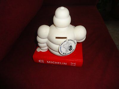 bibendum Michelin sur guide rouge tirelire Collector