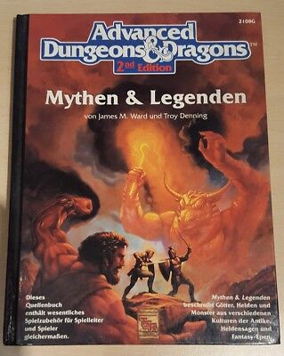 ++ Mythen & Legenden ++ AD&D 2. Edition 2e, Advanced Dungeons & Dragons, deutsch