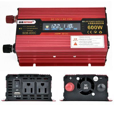 600-3000W 12/24V 110V Car Power Inverter Electronic Adapter Charger Converter