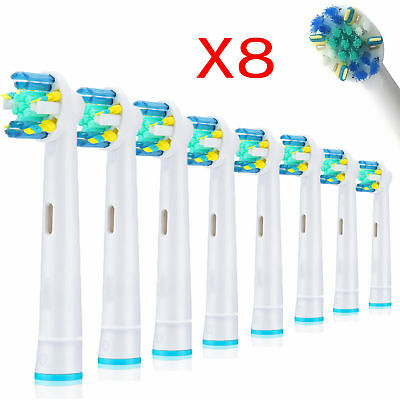 8 X Oral Floss Action B Compatible Electric Toothbrush Replacement Brush Heads