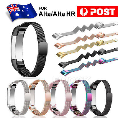Stainless Steel Replacement Metal Wrist Band Strap For Fitbit Alta HR AU