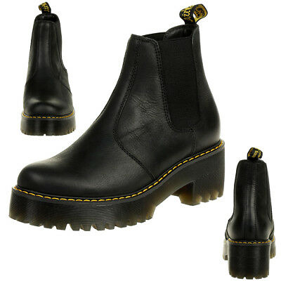 Dr Leather Heel Ankle Womens Boots Chelsea martens Rometty Eur Mid PwqPrO