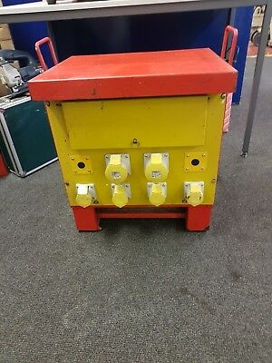 10 Kva 3 Phase Site Transformer Vgc Gwo, 4 X 16 Amp Outlets & 2 X 32 Amp Outlets