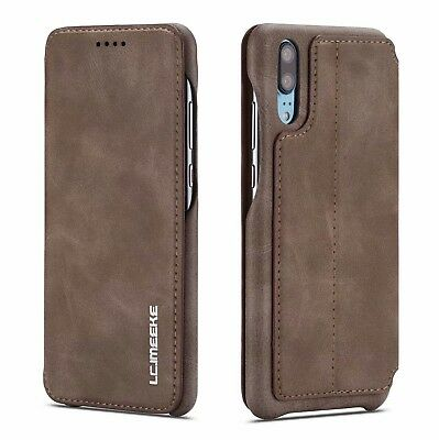 For Huawei P20 Pro Lite Slim Flip Magnetic Leather Case Wallet Cover Stand A