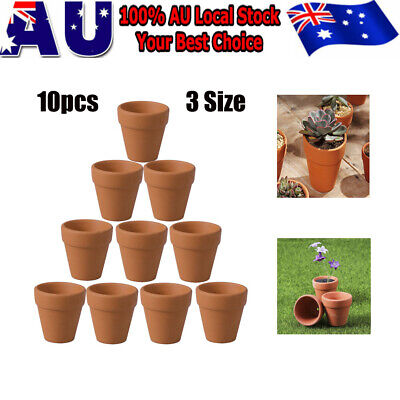10pcs Mini Terracotta Flower Pot Clay Pottery for Succulent Plants Rose Cactus
